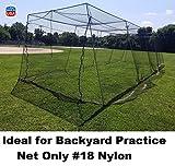 EXCURSIONS Journey To Health Backyard Baseball Batting Cage #18 Nylon Net Netting (12' x 12' x 40')