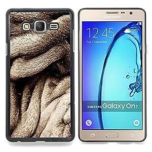 Stuss Case / Funda Carcasa protectora - Abrigo de piel gris Perro Negro Blanco - Samsung Galaxy On7 O7