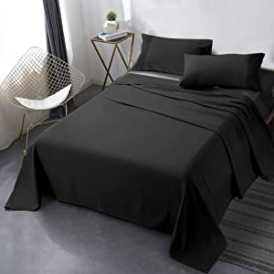 Secura Everyday Luxury Queen Bed Sheet Set 4 Piece - Soft Microfiber 1800 Thread Count 16