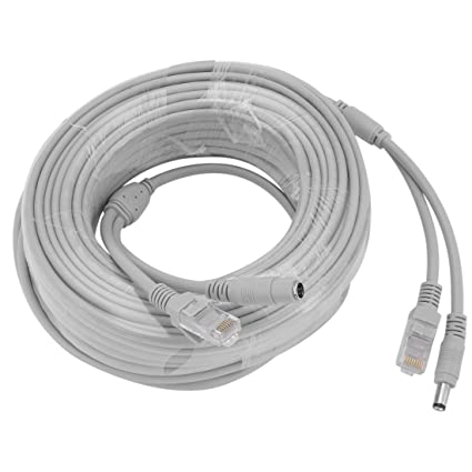 uxcell 20M/66ft Ethernet Cable CAT5E RJ45 Network LAN Power Extension Cord for CCTV IP