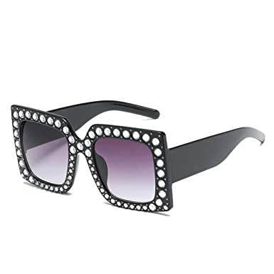 6cf9ec517be NEW MODEL 2018!!! Generic Oversized Bling Rhinestone Square Frame  Sunglasses Women Fashion (