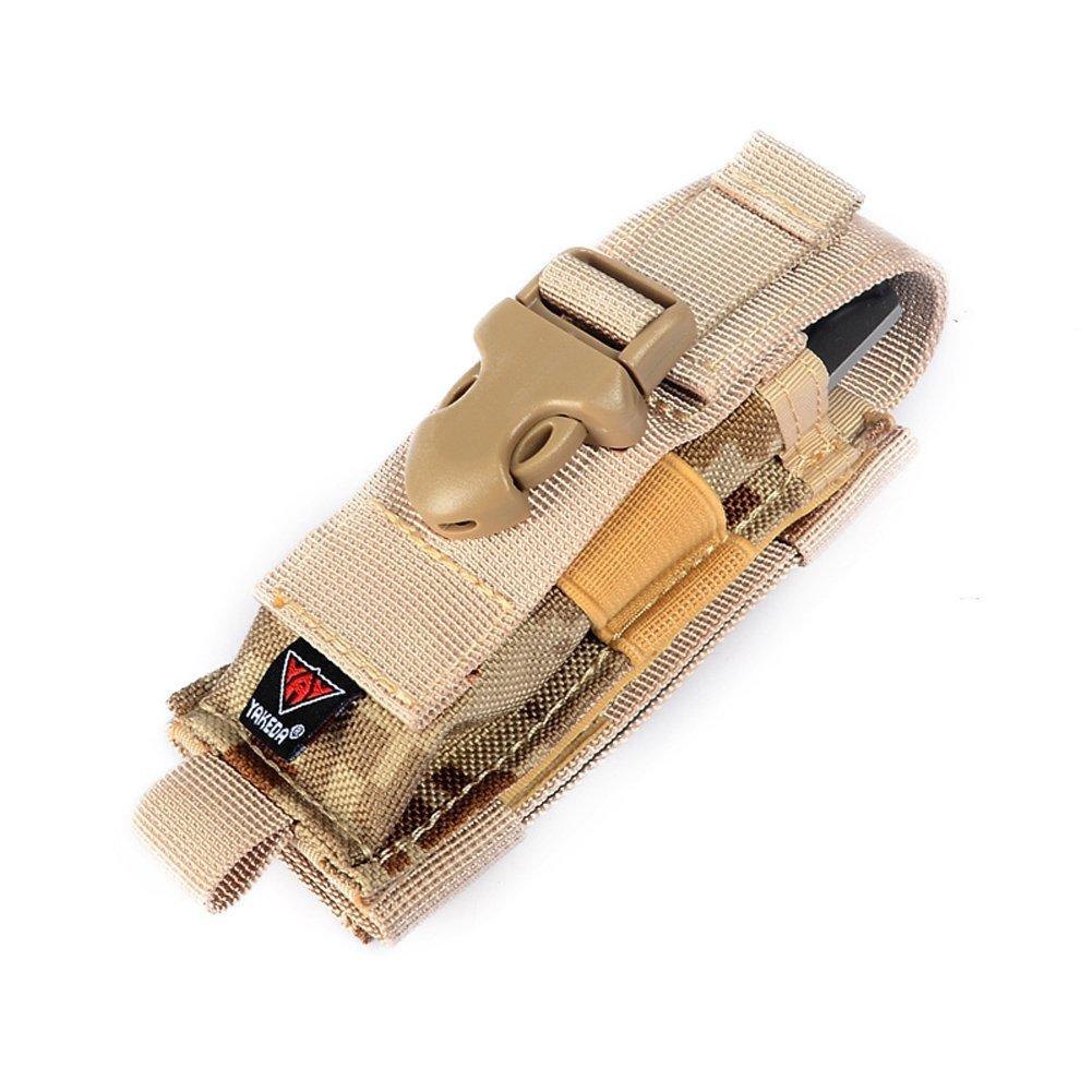 YAKEDA Carry All折りたたみナイフベルトシースナイフナイロンシースデュアルCarry / Molleストラップバッグ-- c88044 – 1 B01LPXVHZW sand desert sand desert