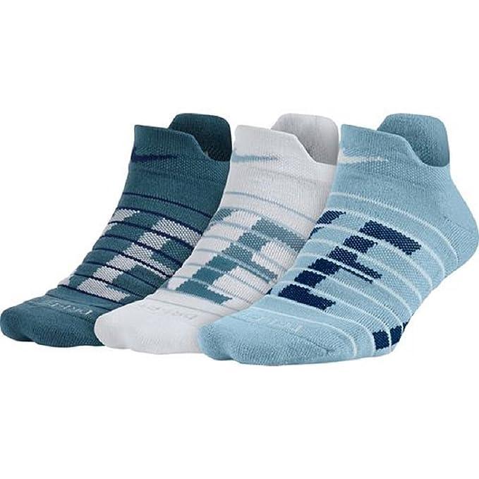 Nike hombres Dry Low acolchados de formación Calcetines 3 k Mediano Medio multicolor azul: Amazon.es: Ropa y accesorios