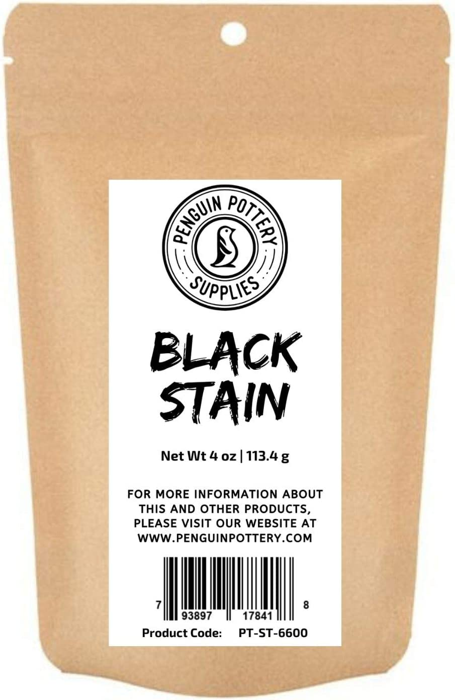 Penguin Pottery - Black Stain - 1/4 lb- Colorant for Clay, glazes, Clay Slip