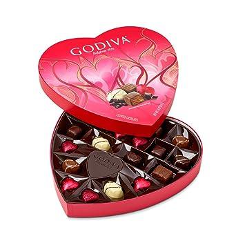 Amazon Com Godiva Chocolatier 20 Piece Valentine S Day Heart