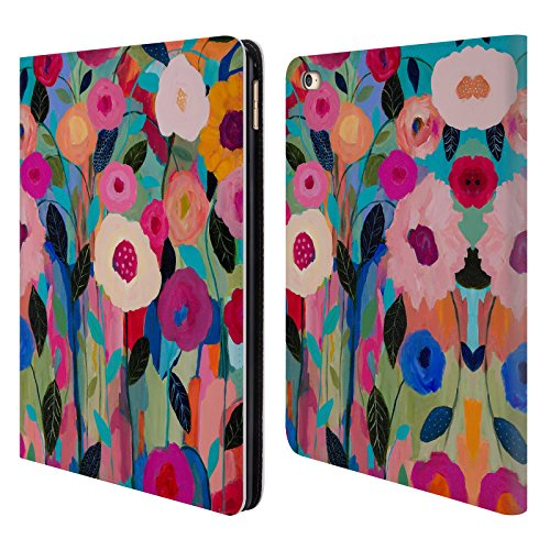 Price comparison product image Official Carrie Schmitt Autumn Splendor Florals Leather Book Wallet Case Cover For Apple iPad Air 2