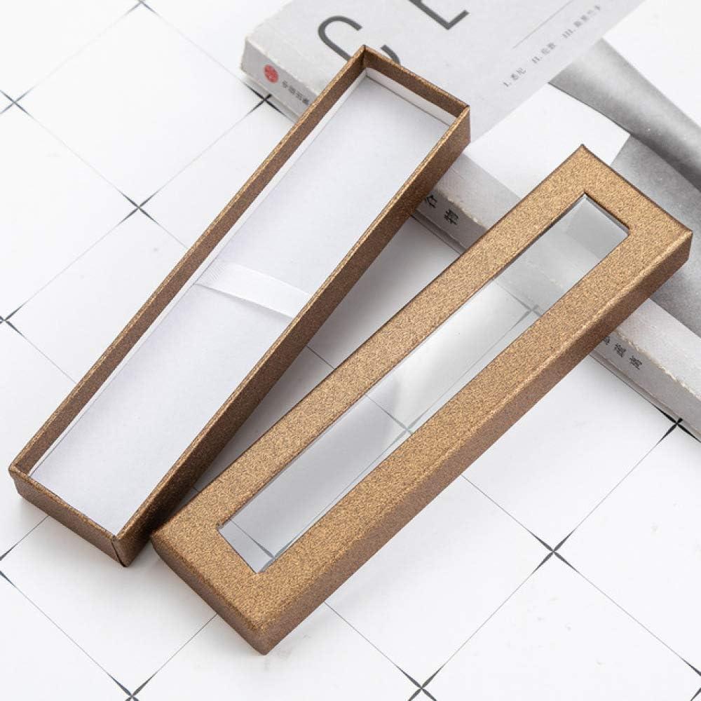 NO BRAND Caja de bolígrafos Caja de cartón Joyas Regalo Caja de Plumas Caja de Regalo papelería: Amazon.es: Hogar