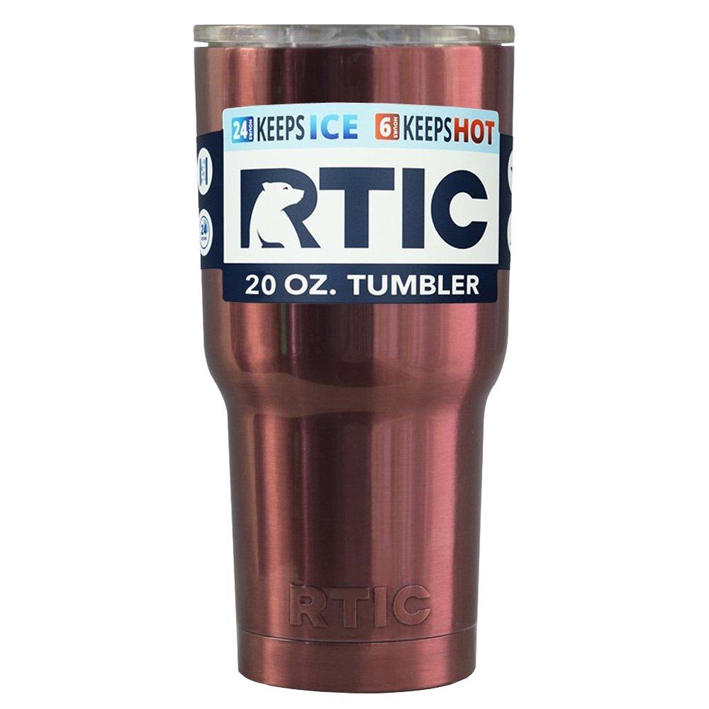 Rtic 20 gステンレススチールタンブラーカップ r20-tc B01N74Z1EA RTIC Copper Trans 20oz RTIC Copper Trans 20oz