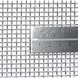 Woven Wire Mesh, 6 mesh (Stainless Steel 304L) – 3.3mm Aperture – By Inoxia Cut Size: 30cmx30cm