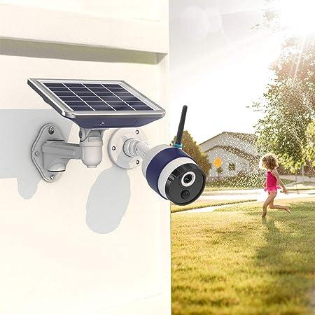 FREECAM Cámara WiFi Solar Cámara IP de Seguridad para el hogar verdaderamente inalámbrica activada por Movimiento con Sensor de Movimiento PIR y visión ...