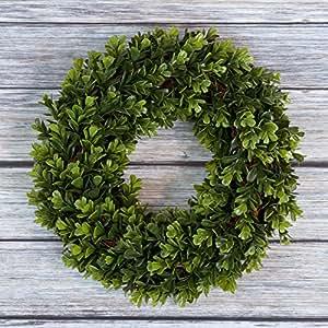 """Pure Garden Boxwood Wreath - 14"""" Round"""