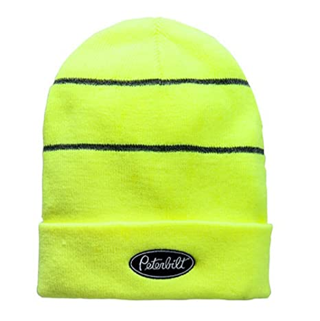 Image Unavailable. Image not available for. Color  Peterbilt High-Vis Safety  Yellow Winter Beanie Cap 534ce8567010