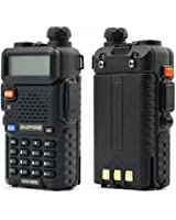 BAOFENG UV-5R 136-174/400-480MHz VHF/UHF Dual-Band Amateur Handfunkgerät, Schwarz