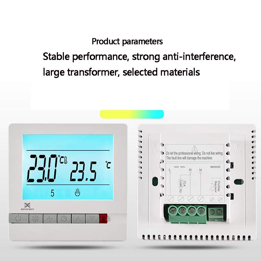 INEP Thermostat de Chauffage par Le Sol commutateur de contr/ôle de temp/érature Intelligent r/égulateur de contr/ôle de temp/érature Intelligent LCD contr/ôleur de temp/érature ambiante