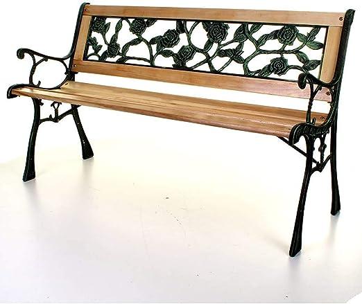 Tres asientos al aire libre de madera cruzadas bancos del parque ...