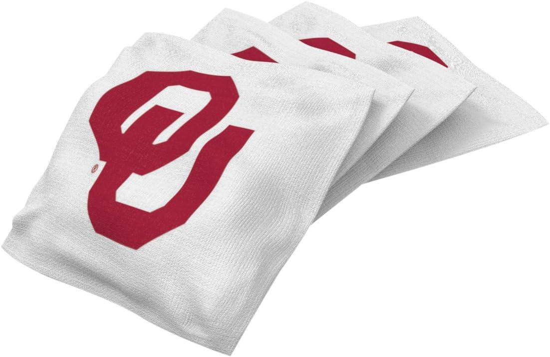 Wild Sports unisex NCAA College Oklahoma Sooners White Authentic Cornhole Bean Bag Set (4 Pack), 16 oz : Sports & Outdoors