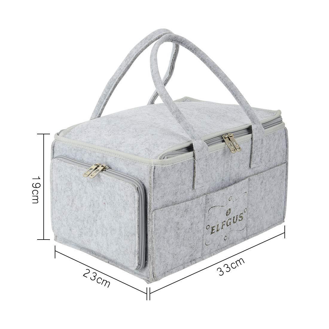 Amazon.com: ELFGUS organizador de pañales para bebés, bolsa ...
