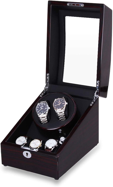 Watch Winder, Caja Giratora 2+3, Caja para Relojes Automáticos, Motor de Calidad y Silencioso, 4 Modos de Rotación (2+3 Negro): Amazon.es: Relojes