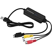 USB Video Capture Device - DriverGenius VHS/VHS-C / Hi8 Cassette Tape to PC and macOS X (Analog S-Video/RCA to USB,VHS to DVD,VCR Player)