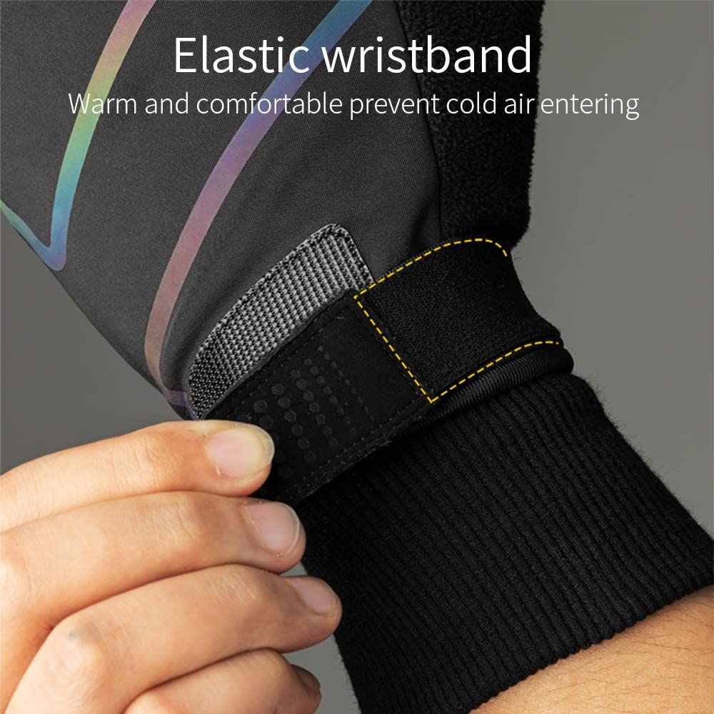 Coolchange Bike Gloves Winter Thermal Touch Screen Water Resist Cycling Gloves