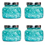 Capri Blue 19 oz Mint Watercolor Jar Volcano (4 pack)