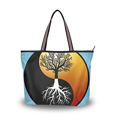 d39f4871ca2e Amazon.com: MAPOLO Tree And It's Roots In Yin Yang Symbol Fashion ...