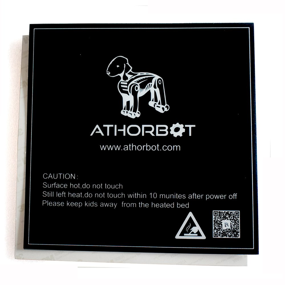 Athorbot 3D Printing Build Surface, Black (Pack of 3) (220mmX220mm) for Anet 8