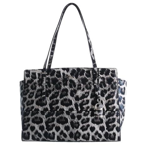 Guess borsa messenger, leopardo (nero) 28443