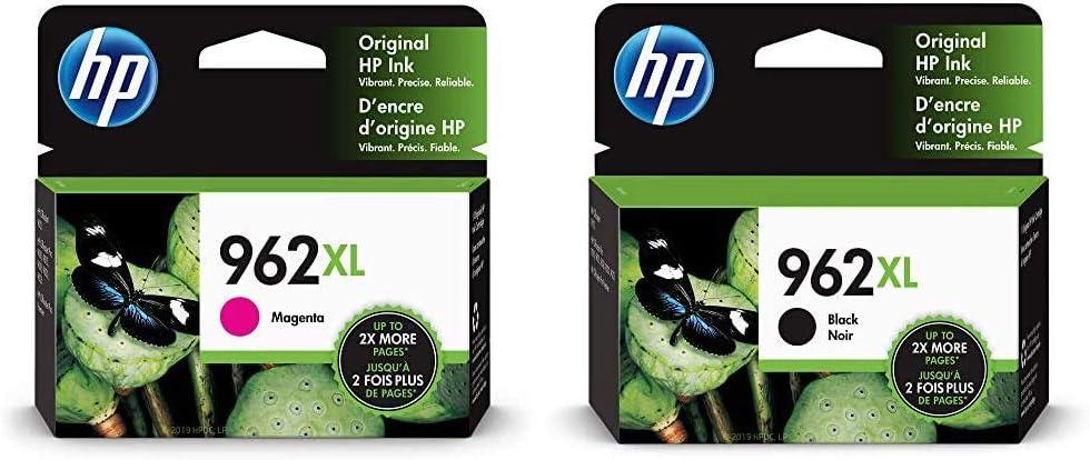 HP 962XL | Ink Cartridge | Magenta | 3JA01AN & 962XL | Ink Cartridge | Black | 3JA03AN