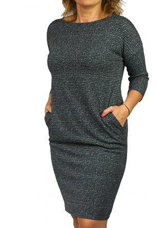 Berry Atemberaubendes Kleid 3/4 Arm Gr 40-54 Etuikleid Strickkleid ...