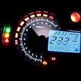 KINGMAK Nouveau Universal rétroéclairage LCD Digital Moto Compteur Kilométrique Tours Indicateur de vitesse Tachymètre Jauge RPM 15000---Expédié de la France---Livraison Rapide
