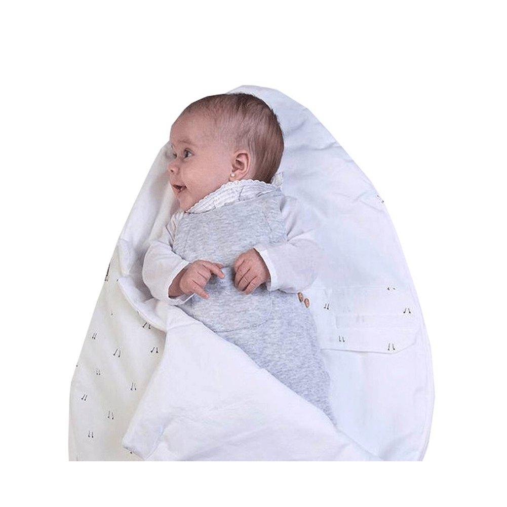 e14f27be7653 BOBORA Newborn Baby Warm Cute Egg Style Fleece Sleeping Bag Wrap Blanket  Sleepsacks White  Amazon.co.uk  Clothing