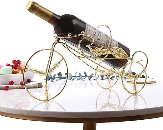 JXXDQ Pequeña decoración botella individual botellero titular de ...