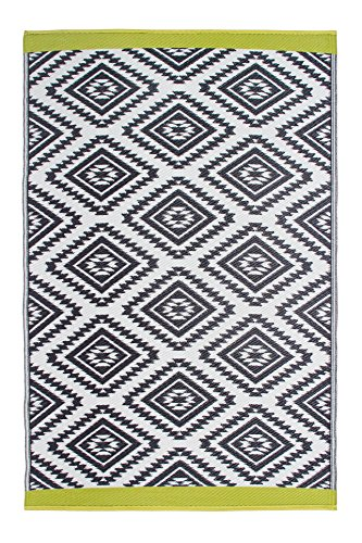Fab Habitat Reversible Rugs | Indoor or Outdoor Use | Stain Resistant, Easy to Clean Weather Resistant Floor Mats | Valencia - Gray, 4' x 6' (Rug Outdoor Square 7)