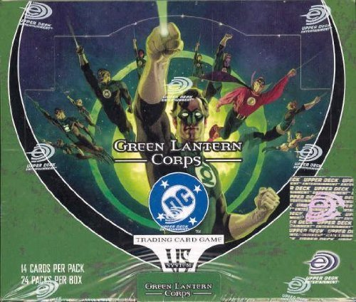 DC VS System Trading Card Game Green Lantern Corps Booster Box 24 Packs