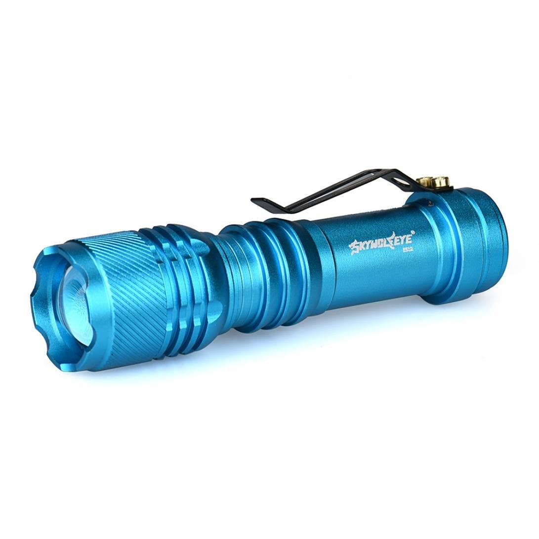 LED Flashlight,IEason Mini 3500LM Zoomable CREE Q5 LED Flashlight 3 Mode Torch Super Bright Light Lamp (N)