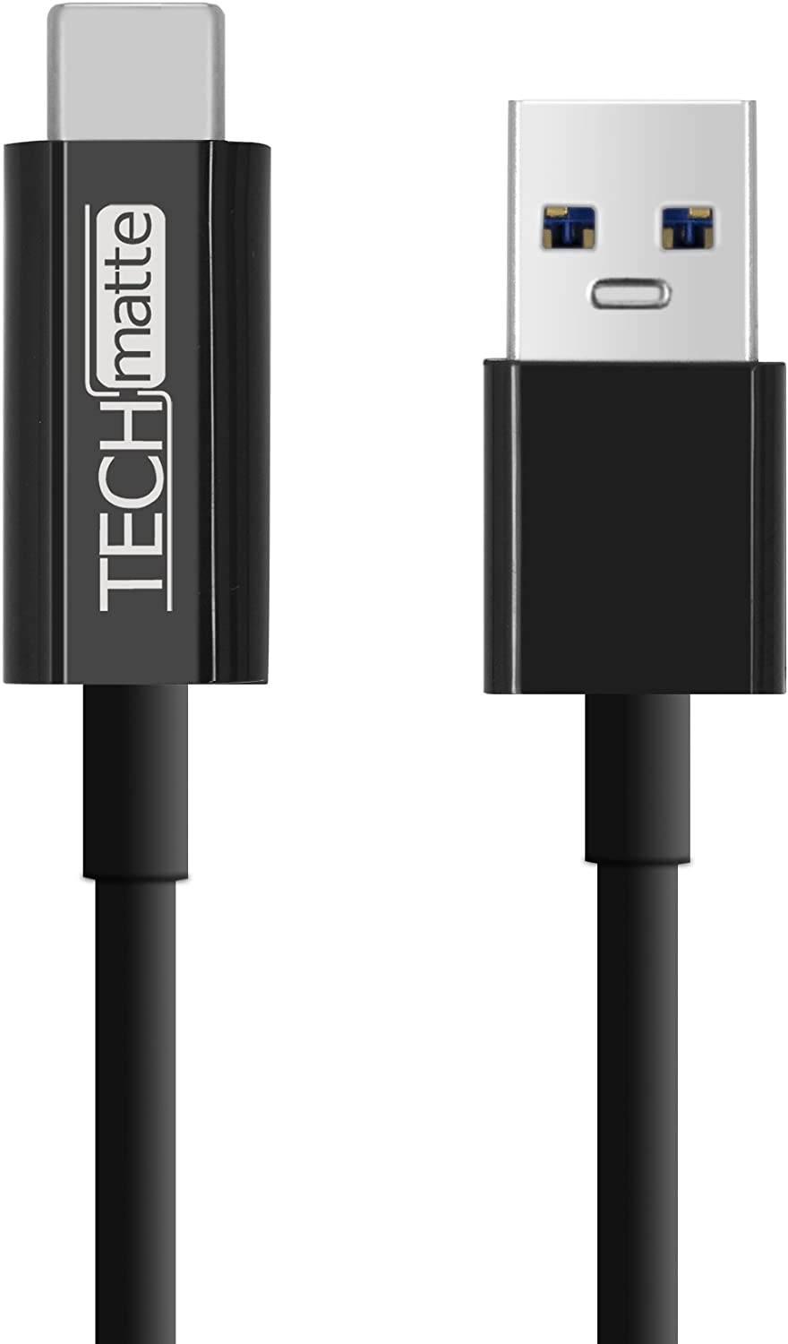 Cable for Google Pixel Nexus 5X LG G5 USB-C to USB 1FT,3 FT, 5FT Black OnePlus 3 USB Type C Cable 3 Pack TechMatte USB 3.0 Type C to Type A 6P 1FT,3FT,5FT Pixel XL HTC 10