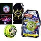 Duncan PULSE LED YoYo (Jaune) Pro String Trick Lumineux Yo Yo (BATTERIES INCLUS!) + Sac de Voyage! Pro Yo-Yo pour les enfants et les adultes! by Flames N Games YoYo 's