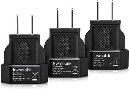 kwmobile 3X Adaptador de Viaje para EEUU: Amazon.es: Electrónica