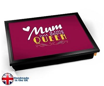 Amazon.com: KICO mamá Queen tipografía Art impresión cojín ...