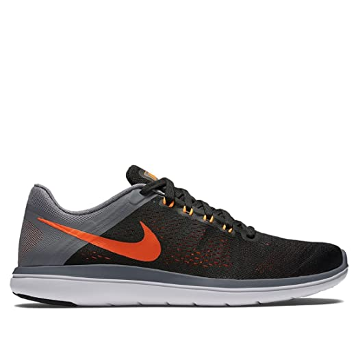 Nike Flex 2016 RN Black/Total Orange/Cool Gray/White
