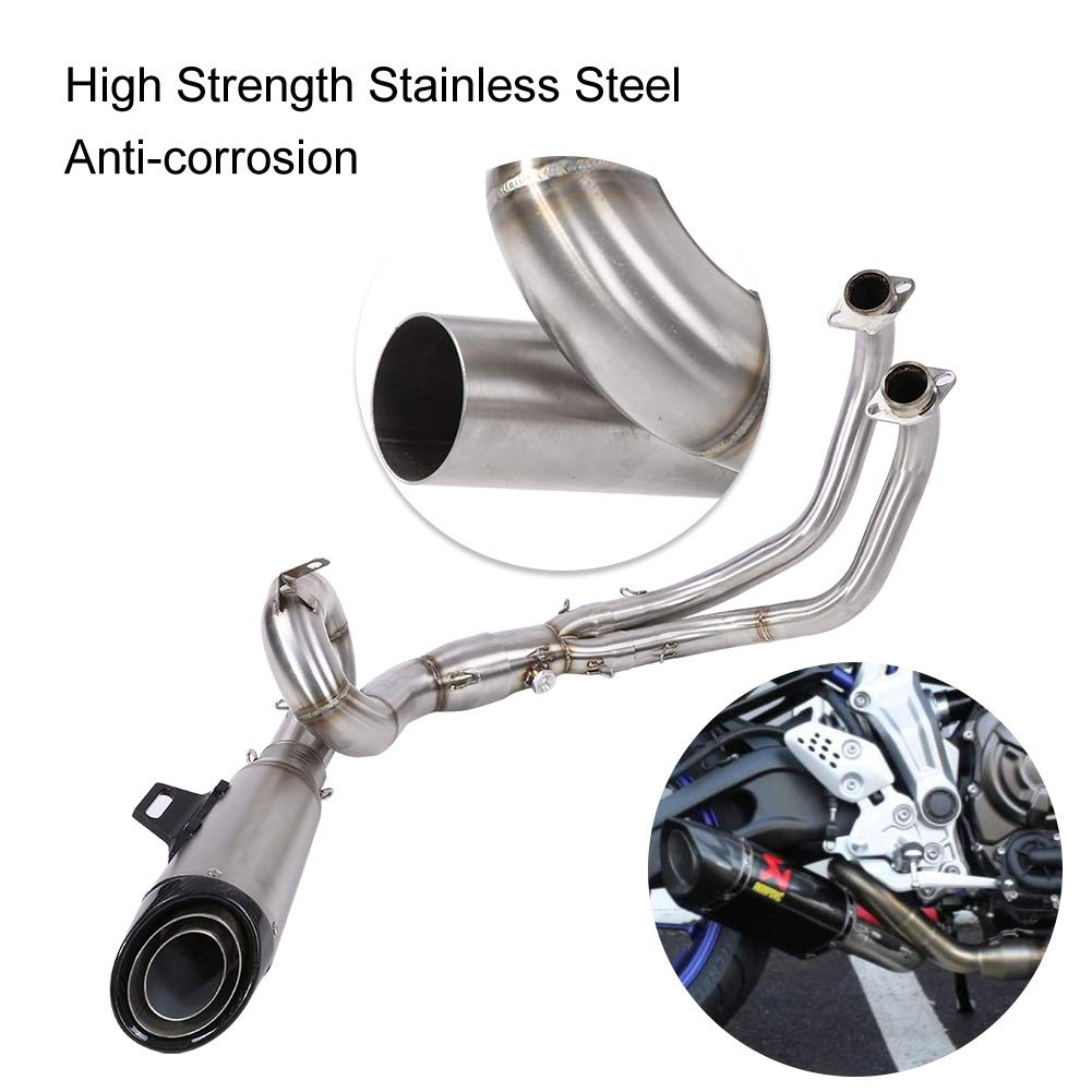 Maneuver KIMISS1Set Mounting Accessories Stainless Steel Motorcycle Exhaust Front Pipe for 51mm Muffler Pipe and MT-07//FZ-07 2014-2017