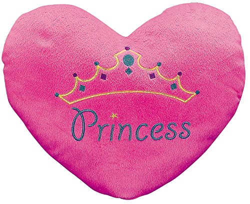 Princess Heart Pillow Embroiding Plush