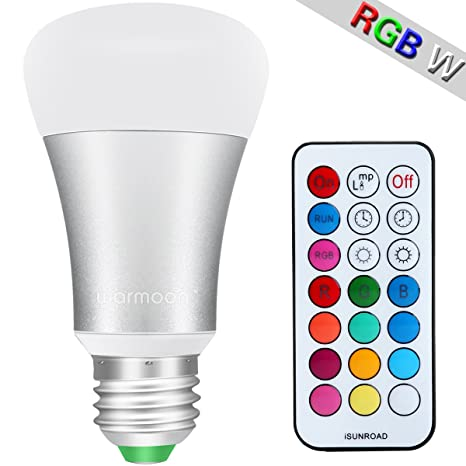 Warmoon Bombilla LED de 10W, luz blanco diurno y color, extensió