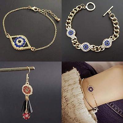 30pcs//Set Alloy Evil Eye Charms Amulet Pendants Jewelry Findings DIY Necklace