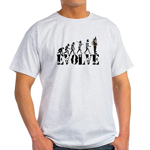 44b1fb29e CafePress Tuba Sousaphone Evolution Light T Shirt 100% Cotton T-Shirt Ash  Grey