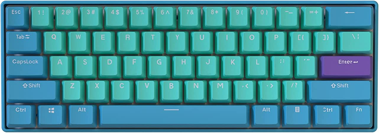 BOYI 60% teclado mecánico, BOYI 61 teclas Mini RGB Cherry MX Switch PBT Keycap 60% RGB Teclado mecánico para juegos (Cherry MX Blue, Frozen Llama ...