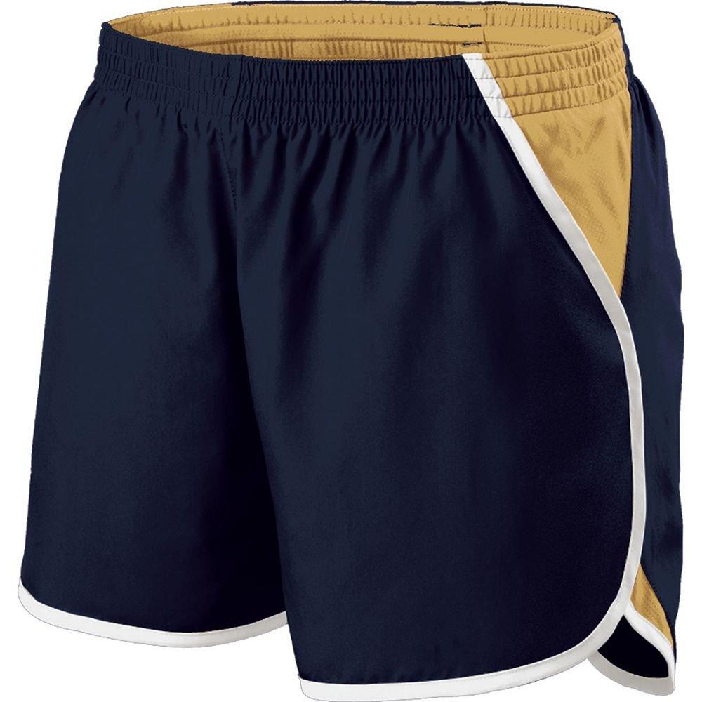 Holloway Sportswear Girls Energize Shorts. 229425 Navy / Vegas Gold / White XL by Holloway