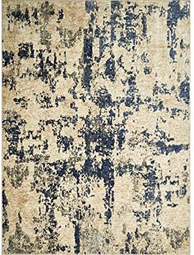 Home Dynamix Nicole Miller Belmont Billy Area Rug 9 2 x12 5 , Modern Abstract Ivory Blue