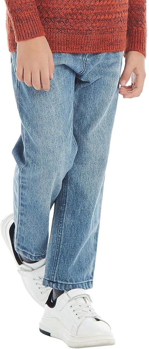 BYCR Boys Blue Denim Jean Elastic Waist Pants for Kids Size 4-18